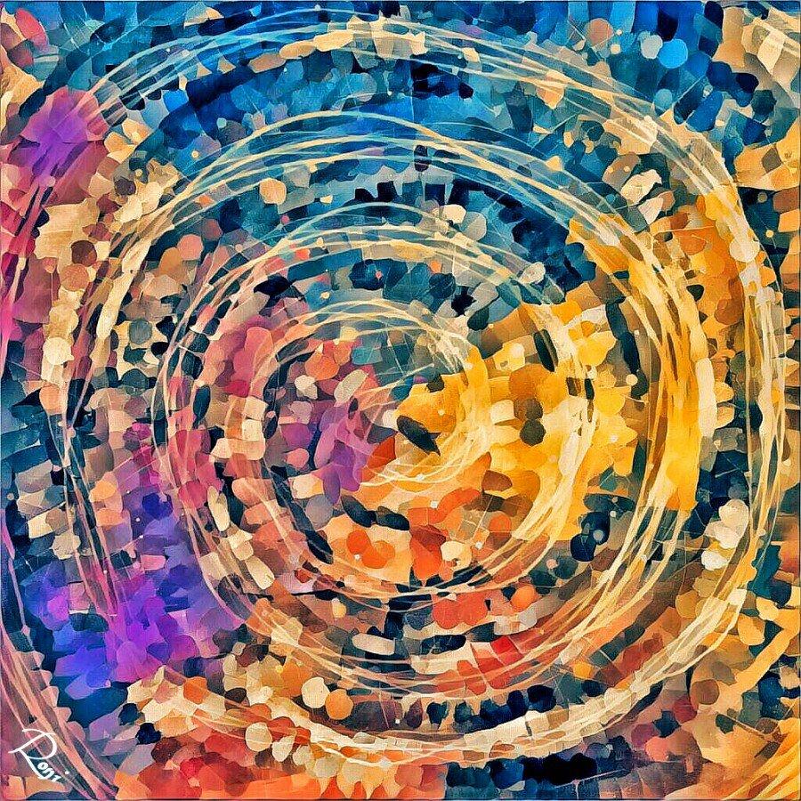 Zwischen Himmel und Erde | Digitale Malerei Roni
