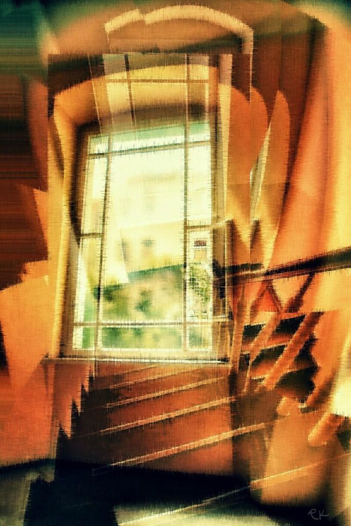 Fenster eine Treppe herabsteigend | RK-Gallery.Berlin