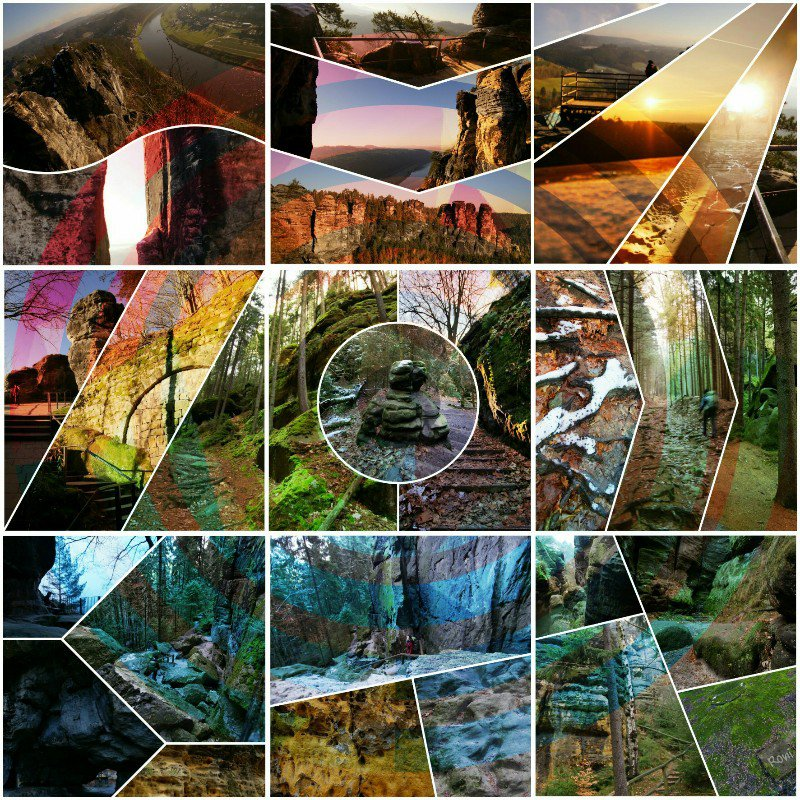 Malerweg Collage | Digitale Malerei